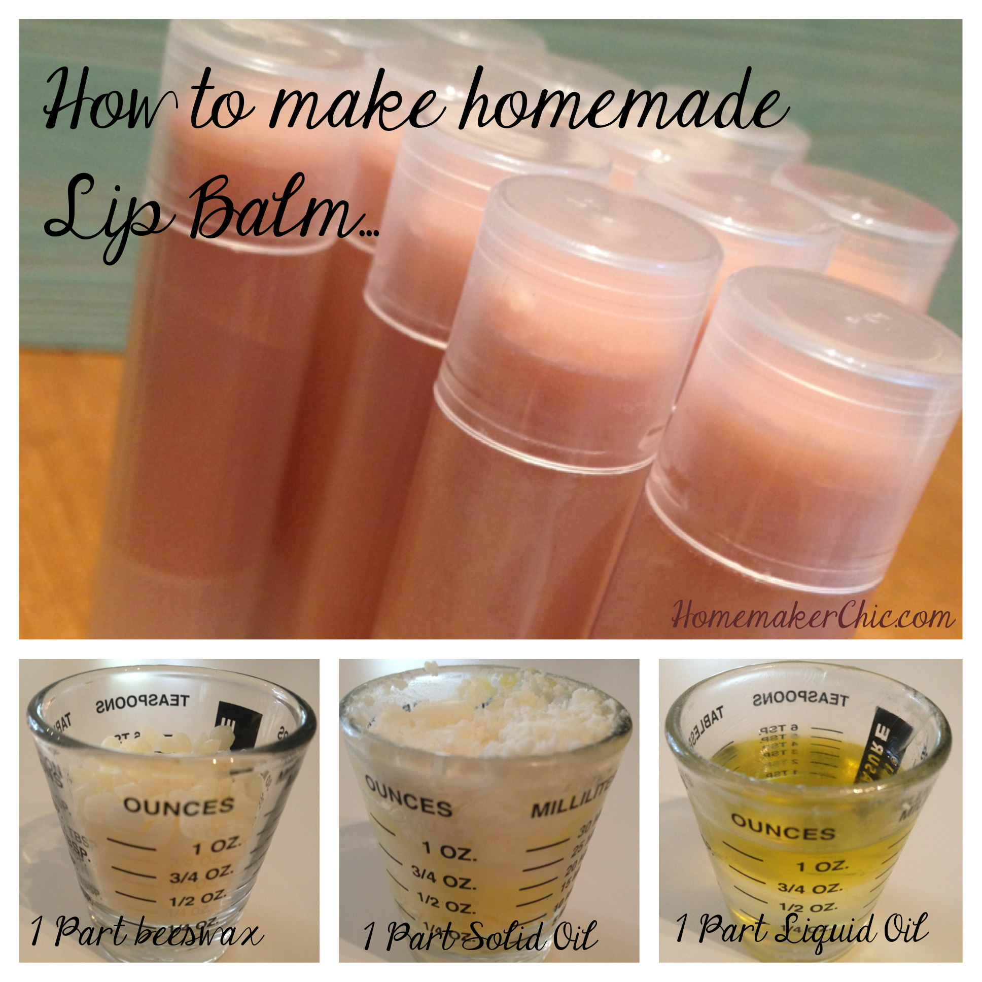Homemade Citrus Lip Balm Tutorial | Homemaker Chic