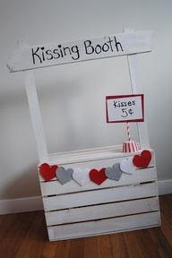 Valentine S Day Kissing Booth Photo Prop Homemaker Chic