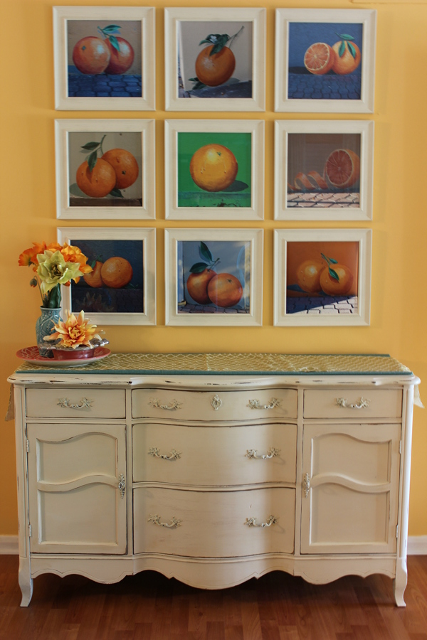 square-picture-frames-grid-oranges-diy-wall-hanging