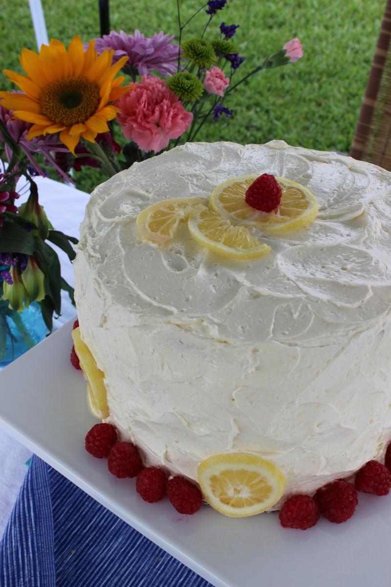 Rustic Lemon Raspberry Buttercream Layer Cake | Homemaker Chic
