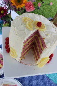 yellow-and-pink-layered-cake