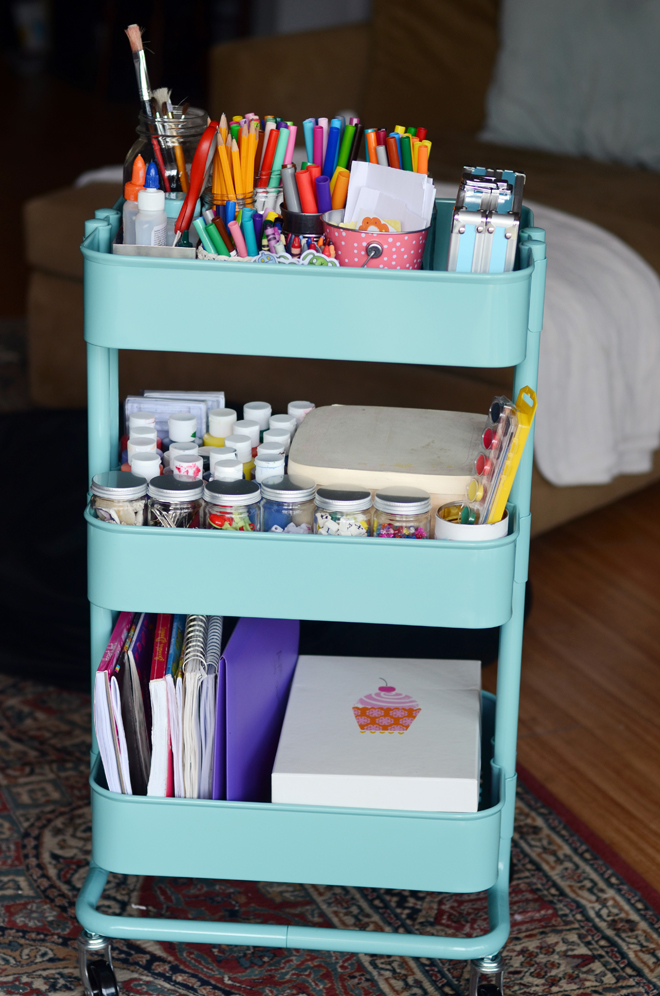 How To Organize Your Craft Supplies With An Art Cart Homemaker Chic