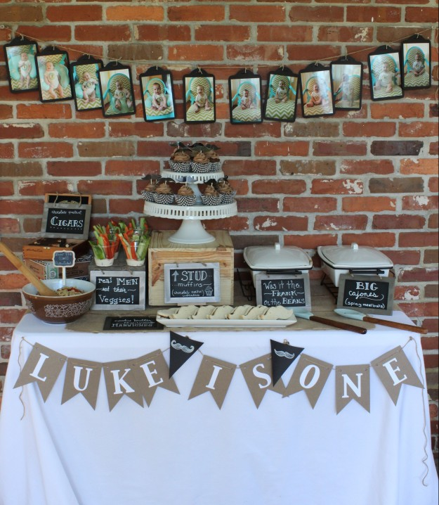 mustache-theme-baby-boy-birthday-party-dessert-table